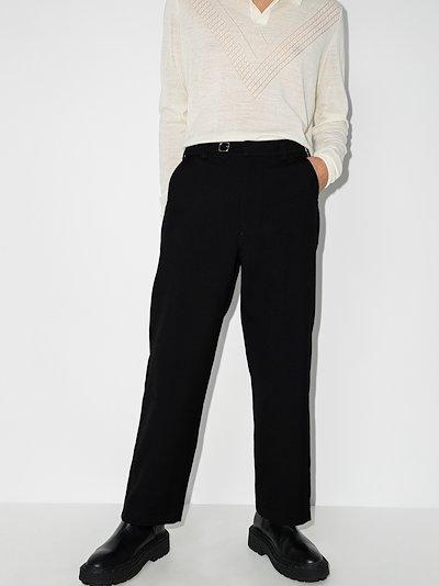 VLTN logo Straight Leg Trousers