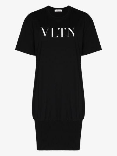 VLTN logo T-shirt dress