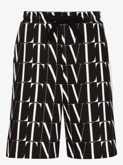 VLTN print Bermuda shorts