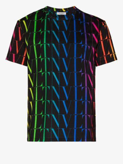 VLTN rainbow-logo print T-shirt