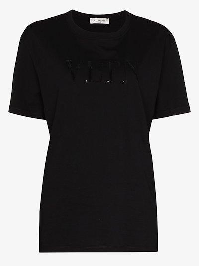 VLTN sequin logo T-shirt