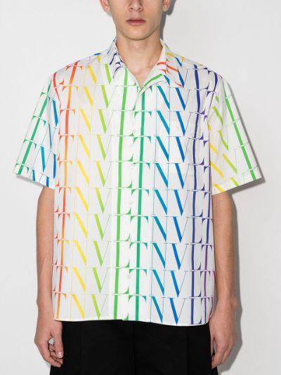 VLTN Times logo-print shirt