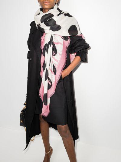 White polka dot shawl