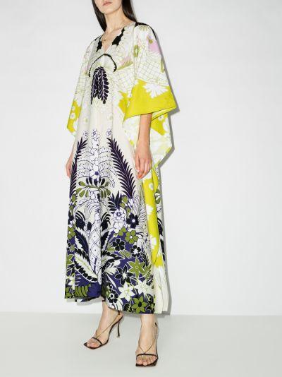 World Arazzo print cotton kaftan dress