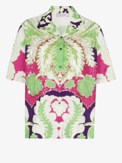 World Arazzo print cotton shirt