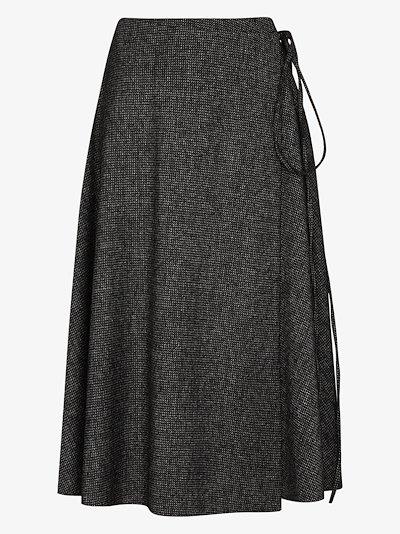 wrap wool skirt