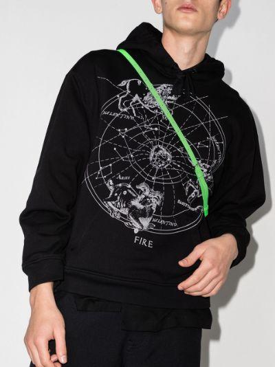 zodiac map print hoodie