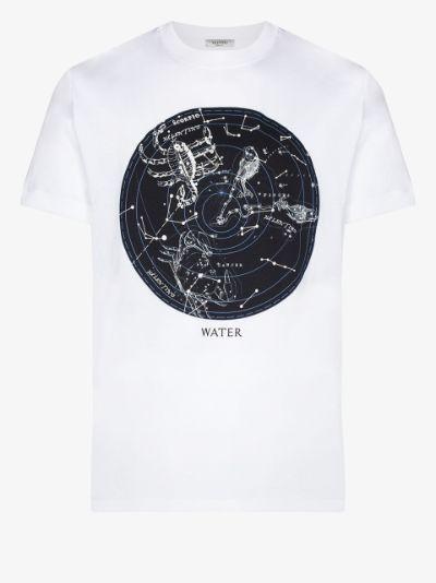 zodiac map print T-shirt