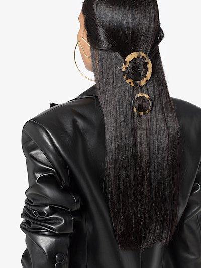 Multicoloured Sarah tortoiseshell round hair clips
