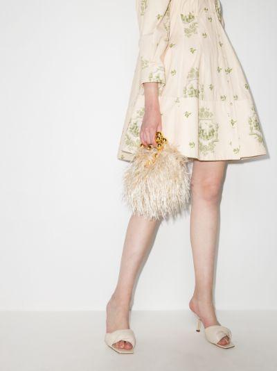 Beige Le Juliette feather mini bag
