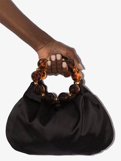 black Juliette silk tote bag