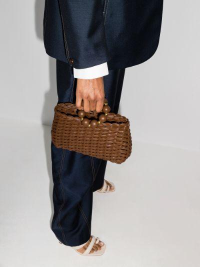 brown Le Coeur de Palmier clutch bag