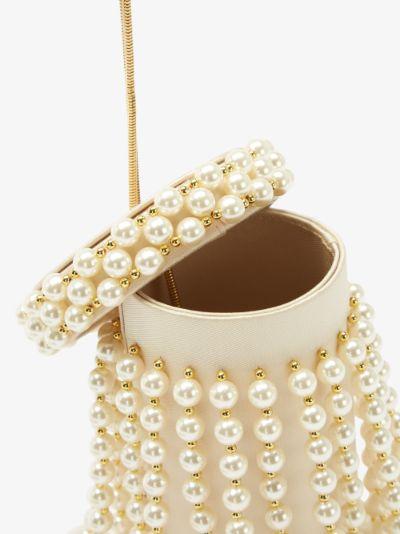 cream Le Medusa faux pearl clutch bag