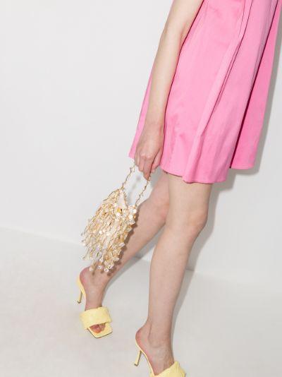 Gold L'Illusion draped shoulder bag