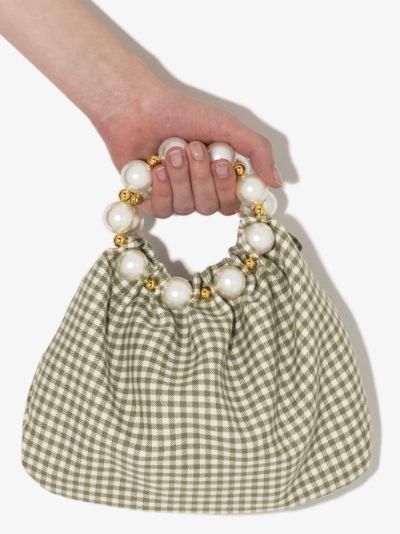 Green Le Juliette clutch bag