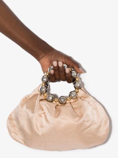 neutral Juliette silk tote bag