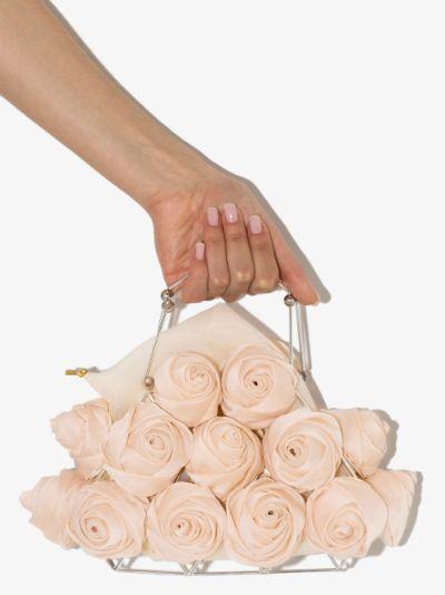 neutral mon amie rose clutch bag