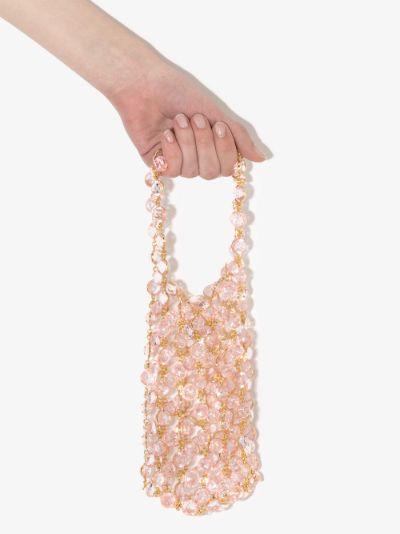 Pink Les Milles Et Une Nuit beaded mini bag