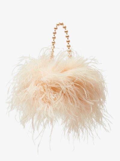 Pink L'Oiseau Rebelle feather mini bag
