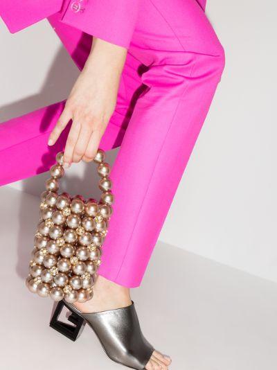 rose gold tone Le Comino beaded mini bag