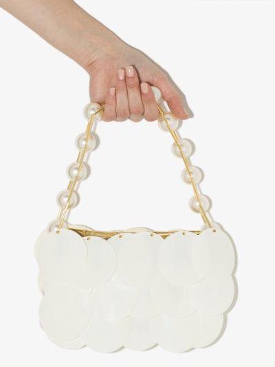 white Baguette layered shoulder bag