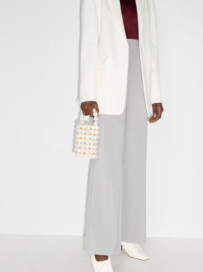 White Comino beaded mini bag