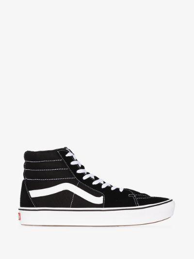 black SK8-Hi suede panel sneakers