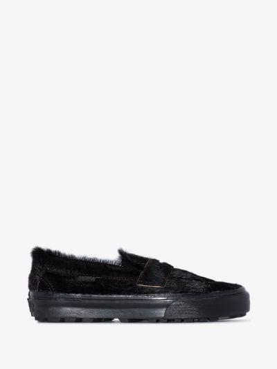 black UA Style 53 LX pony hair sneakers
