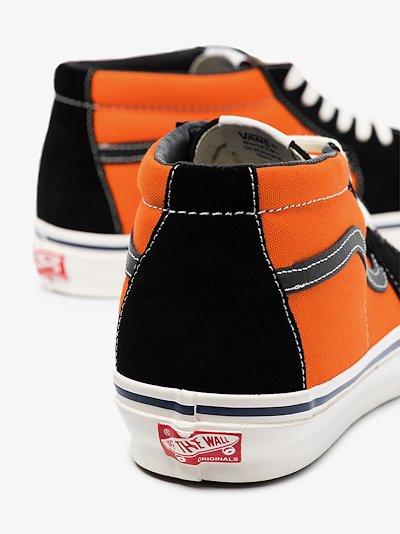 orange and black 8oz SK8 canvas sneakers