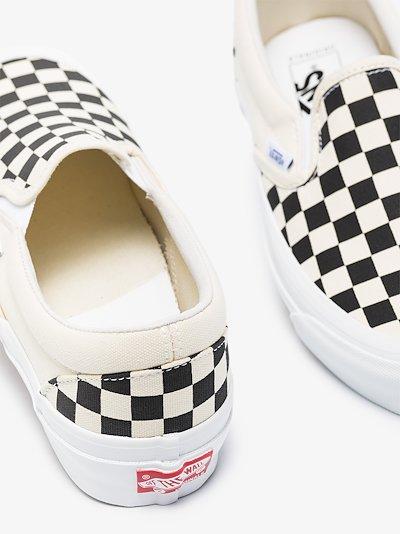 white Old Skool Checkerboard slip-on sneakers
