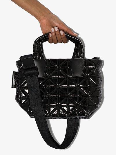 black Vee mini tote bag