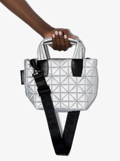 Silver Vee mini tote bag