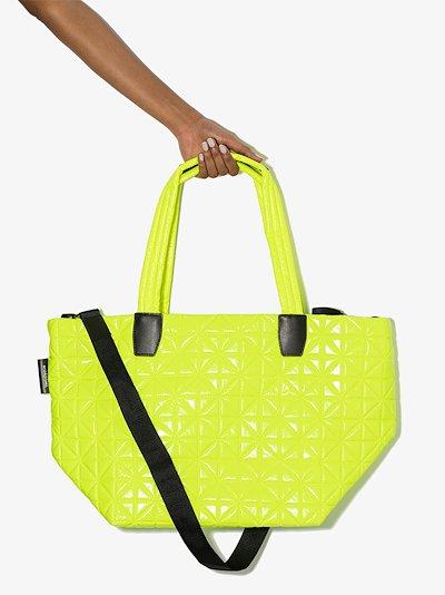 yellow Vee medium tote bag