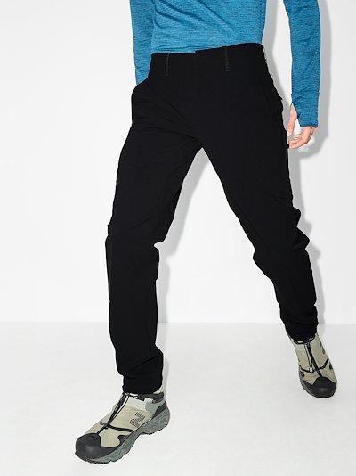 Black Align straight leg trousers