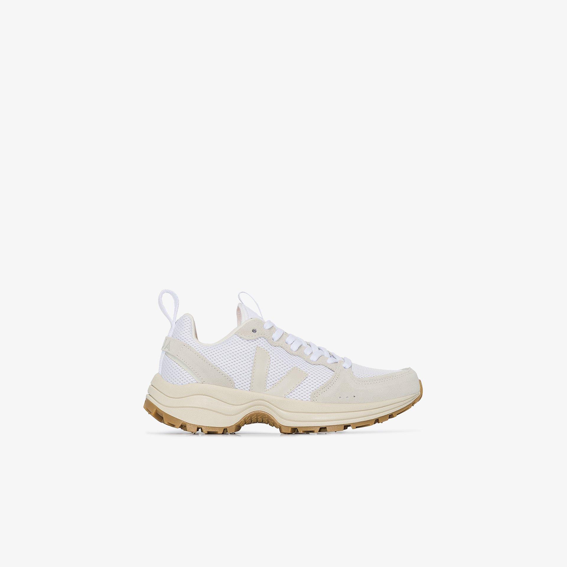 Veja White Ventura Suede Sneakers Browns