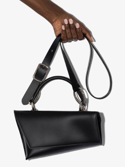 black VX-S leather shoulder bag