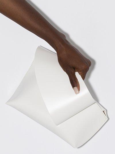 white Reiera leather clutch bag