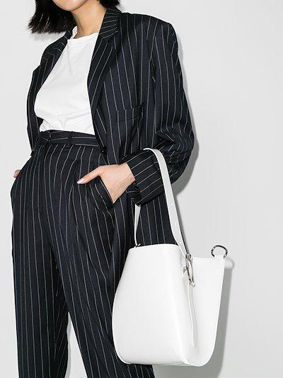 white Taeo leather tote bag