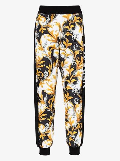 Baroque logo cotton sweatpants