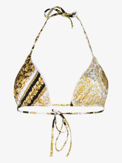 Baroque Mosaic print bikini top