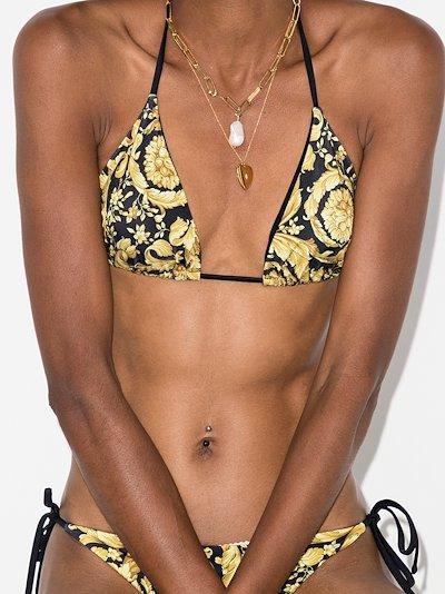 baroque print bikini top