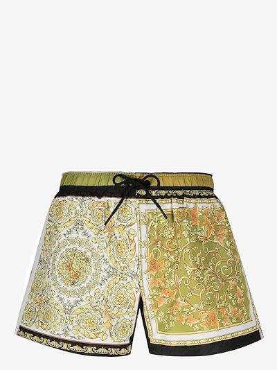 Baroque print swim shorts