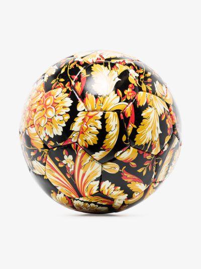 black Baroque print football