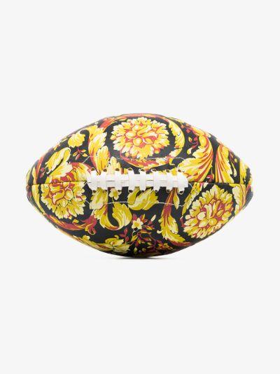 black Baroque print rugby ball