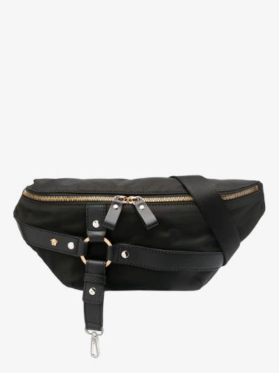 black harness cross body bag