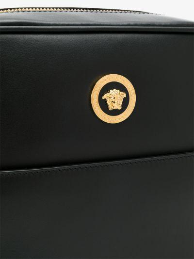 black Icon leather messenger bag