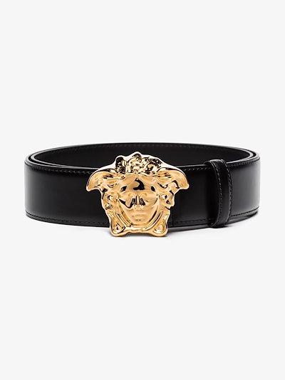 black Medusa buckle belt