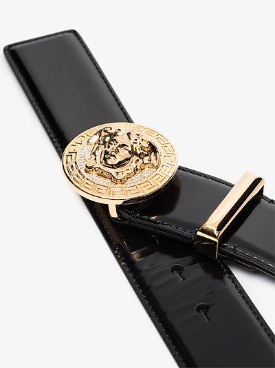 black medusa leather belt