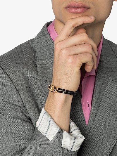 black medusa leather bracelet