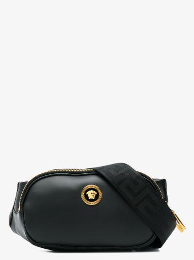 Black Medusa Leather cross body Bag